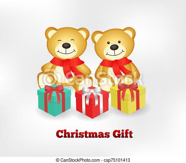 Vector of two very cute teddy bears - csp75101413