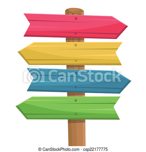Vector of wooden route sign - csp22177775