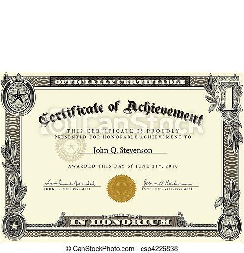 Vector Official Certificate Template - csp4226838