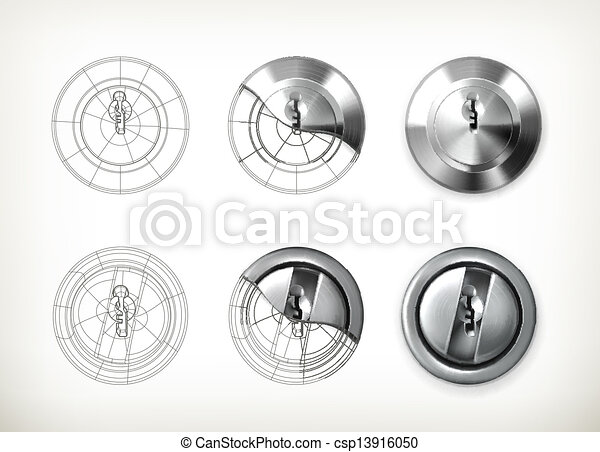 Vector de cerradura - csp13916050