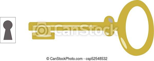 Vector clave y cerradura - csp52548532