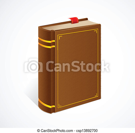 Vector Old Book With Bookmark Isolated Icon Clipart Search Rh Canstockphoto Com
