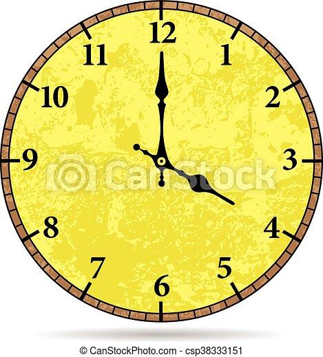 Vector old clock face - csp38333151