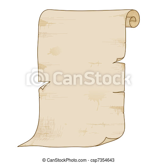 Vector old paper roll. Vector illustration of old paper ...  Old