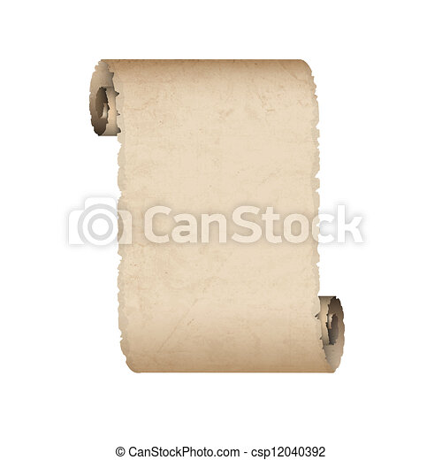 Vector old scroll paper - csp12040392