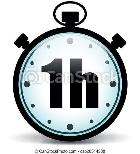 Vector one hour stopwatch - csp20514388
