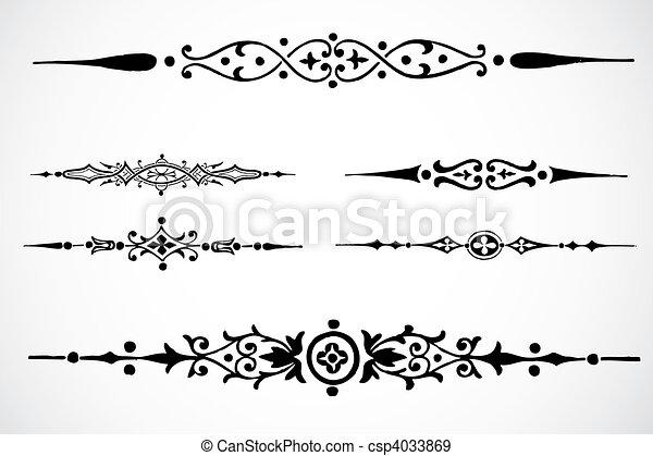 vector, ontwerp, versieringen - csp4033869