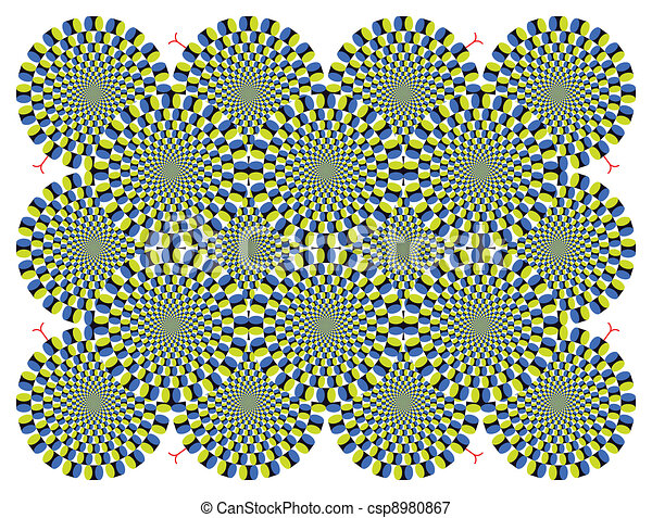 Vector optical illusion Spin Cycle background - csp8980867