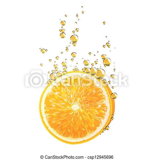 Vector Orange Fruit - csp12945696