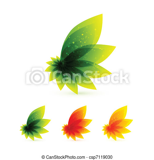 Vector orange leaves - csp7119030