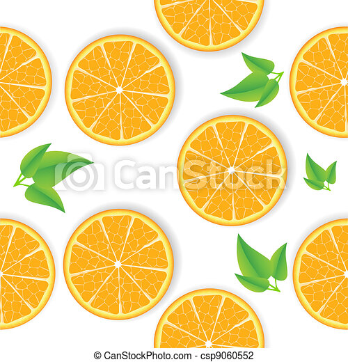 Vector orange seamless background - csp9060552