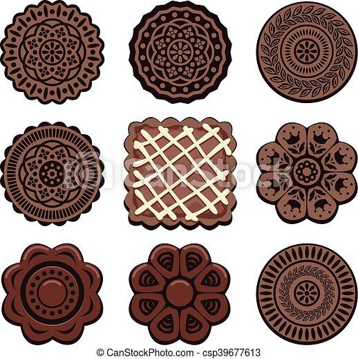 vector oreo cookie set - csp39677613