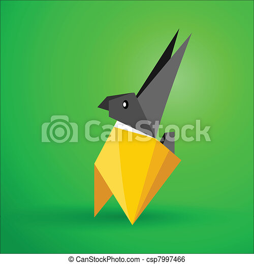 Vector Origami Rabbit Vector Illustration Be Able Scaled To Any