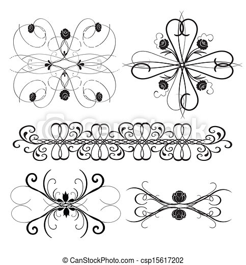 Vector Ornament Set 8 - csp15617202
