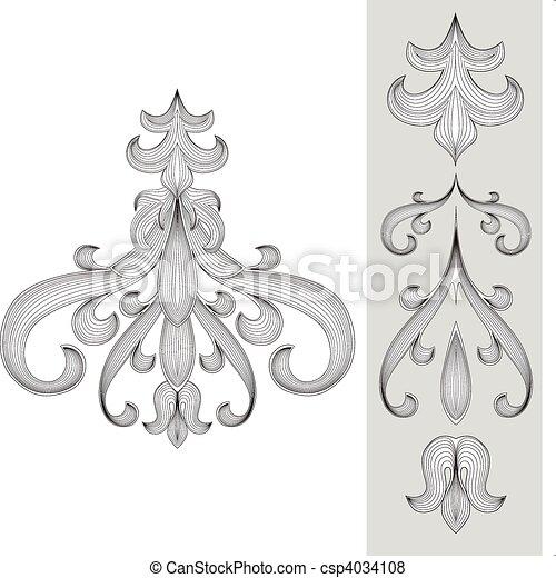 Vector Ornament Set - csp4034108