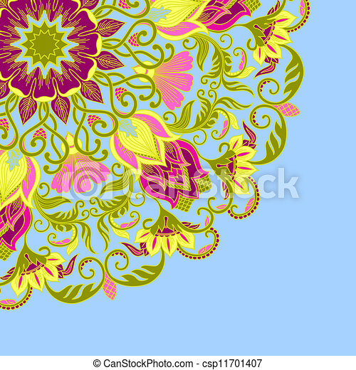 Vector ornamental background. - csp11701407