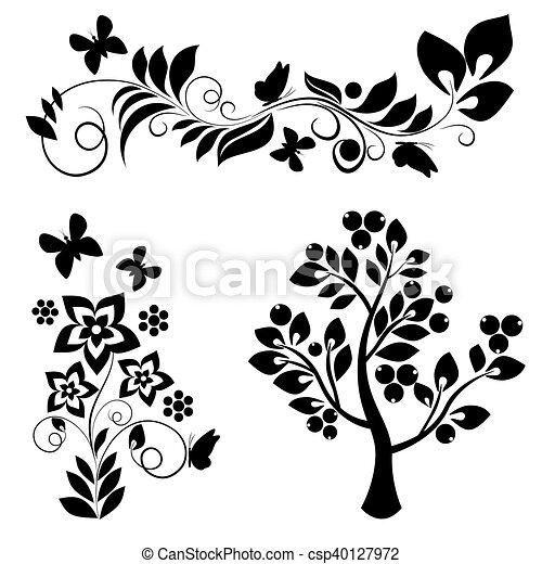 Elementos de diseño ornamental: vector - csp40127972
