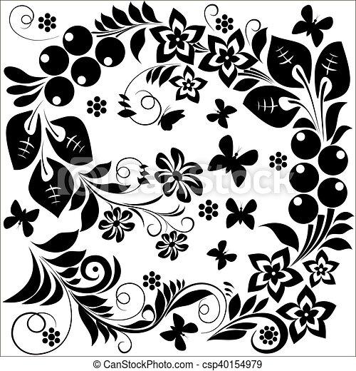 Elementos de diseño ornamental: vector - csp40154979