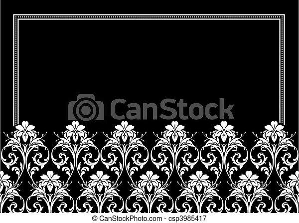 Vector Ornamental Floral Frame - csp3985417