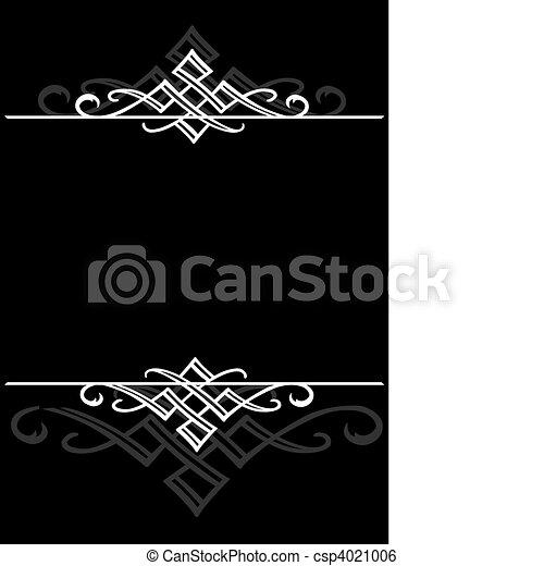 Vector Ornamental Frame - csp4021006