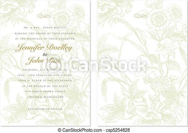 Vector Ornate Floral Background and Frame - csp5254828