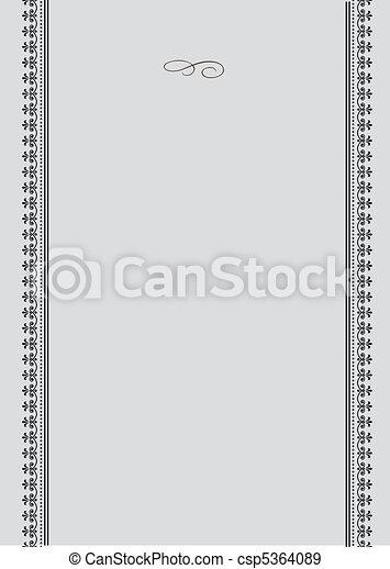 Vector Ornate Frame - csp5364089