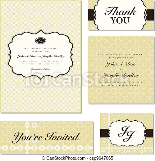Vector Ornate Frame Set - csp9647065