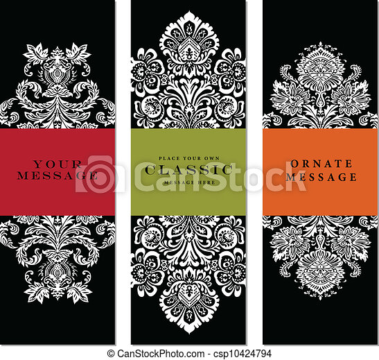 Vector Ornate Frame Set. - csp10424794