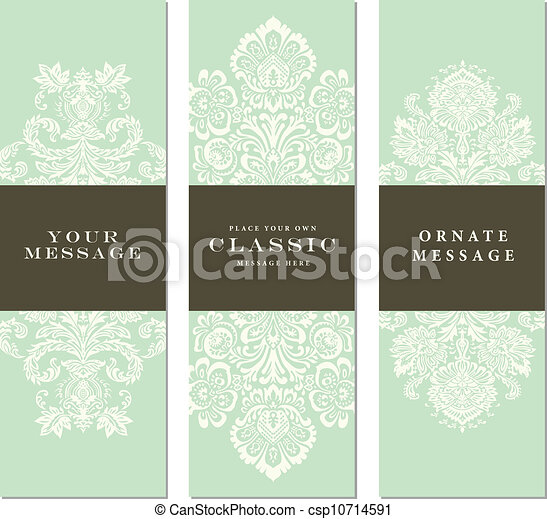 Vector Ornate Frame Set - csp10714591
