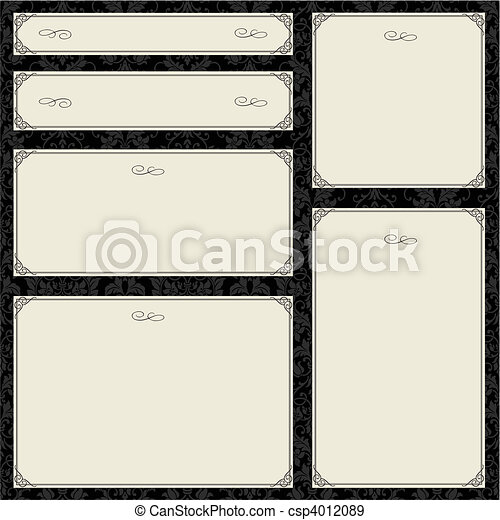 Vector Ornate Frame Set - csp4012089