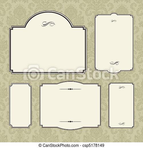 Vector Ornate Frame Set - csp5178149