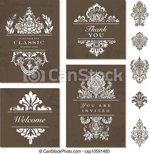 Vector Ornate Frame Set - csp10591480