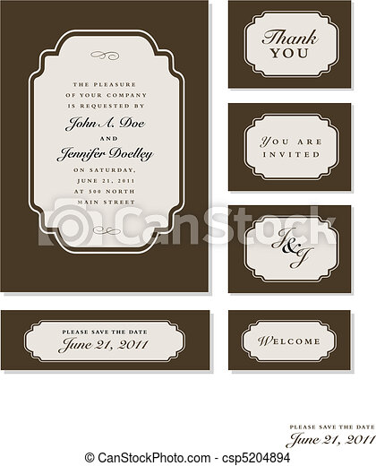 Vector Ornate Frame Set - csp5204894