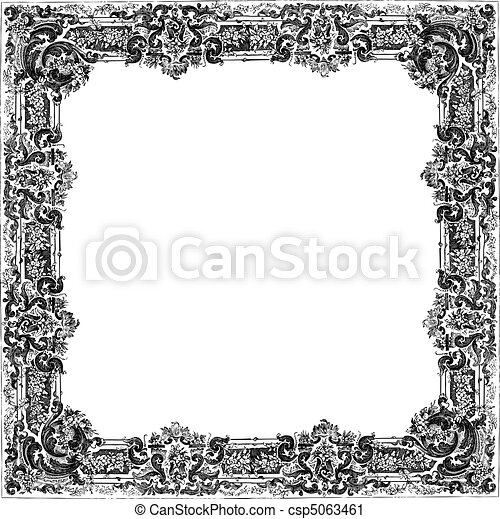 vector ornate frame vector victorian frame easy to edit perfect