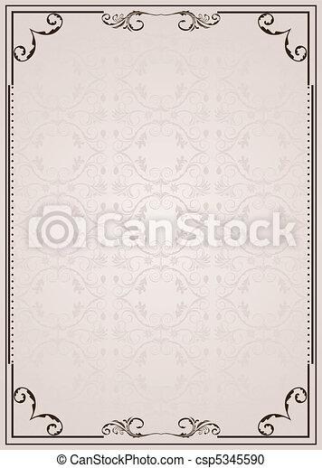 Vector ornate frame - csp5345590