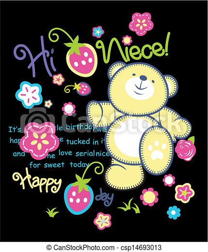 Vector oso feliz - csp14693013