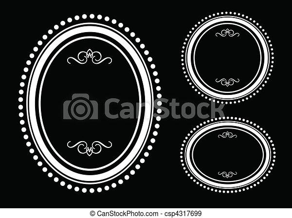 Vector Oval Dot Frame Set - csp4317699