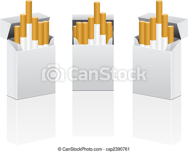 Vector pack of cigarettes  - csp2390761