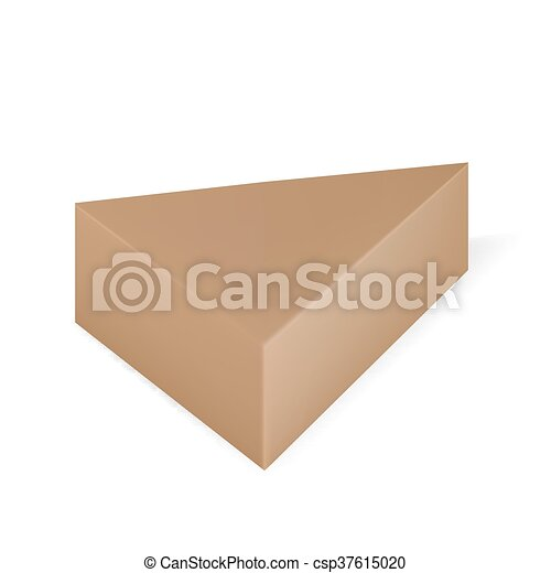 Vector packaging brown triangle packaging box on isolated white vector packaging brown triangle packaging box on isolated white background mock up template ready for design maxwellsz