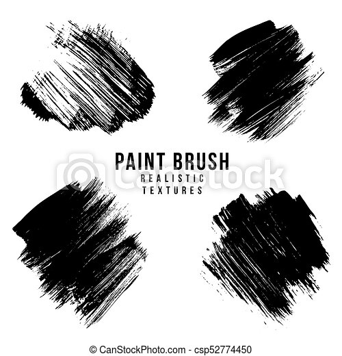 Vector Paint Brush Strokes Texture