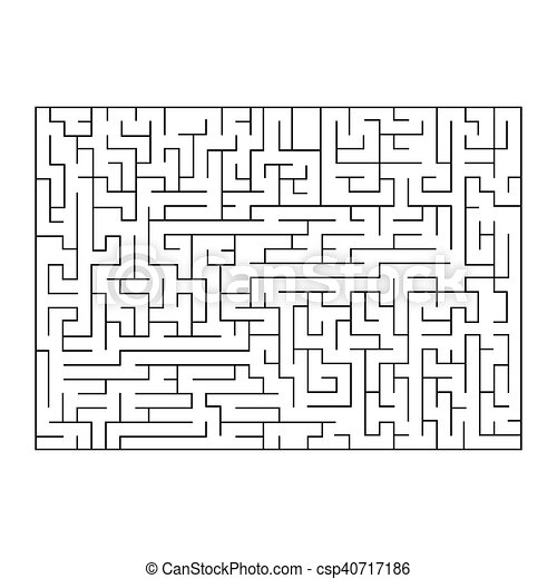 Vector painting of maze, labyrinth. Isolated on white background. - csp40717186