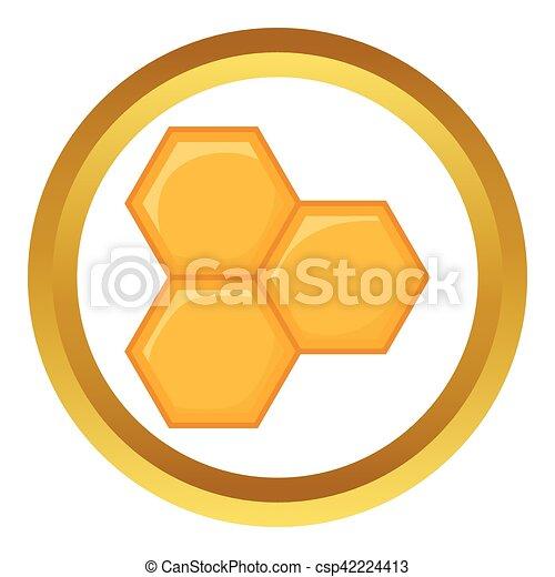 Honeycomb of vector icono - csp42224413