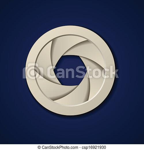 vector paper camera shutter aperture - csp16921930