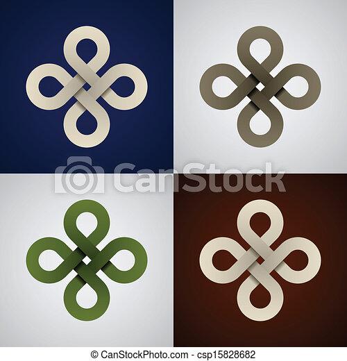vector paper endless celtic knots - csp15828682