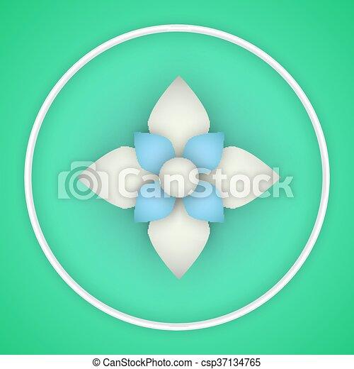 Vector paper flower origami vector paper flower flat origami vector paper flower origami mightylinksfo