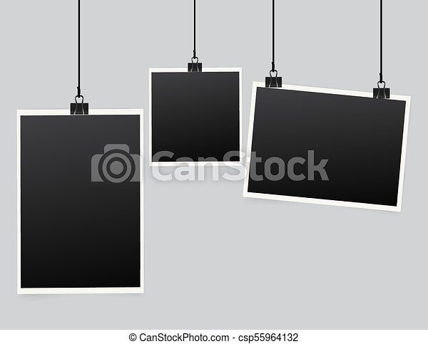 Vector paper frame isolated on white - csp55964132