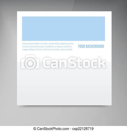 vector paper template banner white note vector