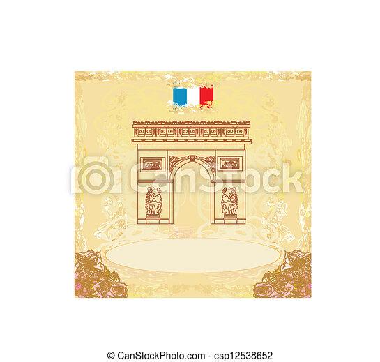 Ilustración vectorial trazada a mano del arco de triunfo de París - csp12538652