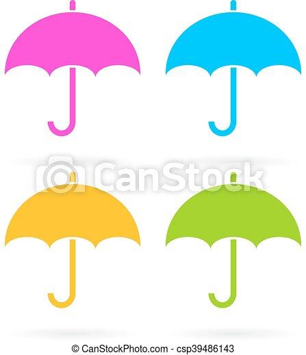 icono vector de paraguas - csp39486143