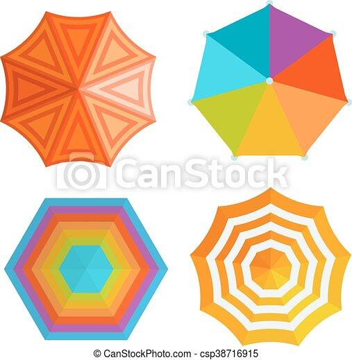Ilustración vectorial de paraguas. - csp38716915